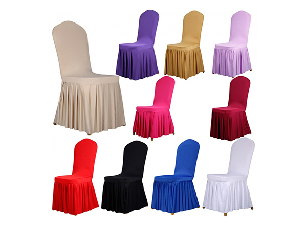 Colorful universal spandex long wedding chair covers party banquet decorations