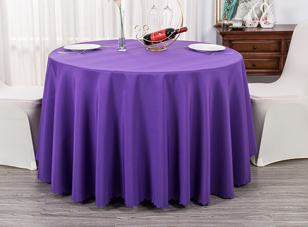 Various colors available plain polyester banquet table cloth