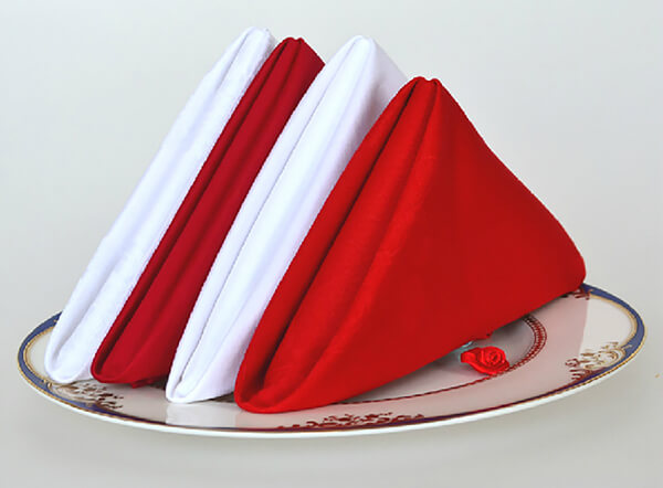 Various colors available plain polyester table napkin
