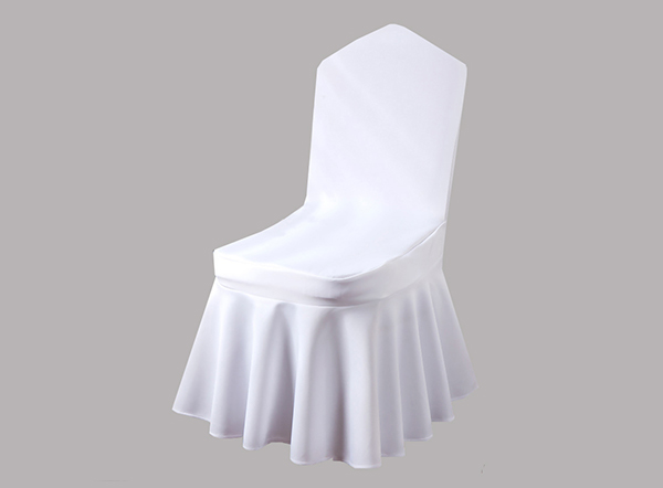 Various colors available pleated decorative banquet chair covers