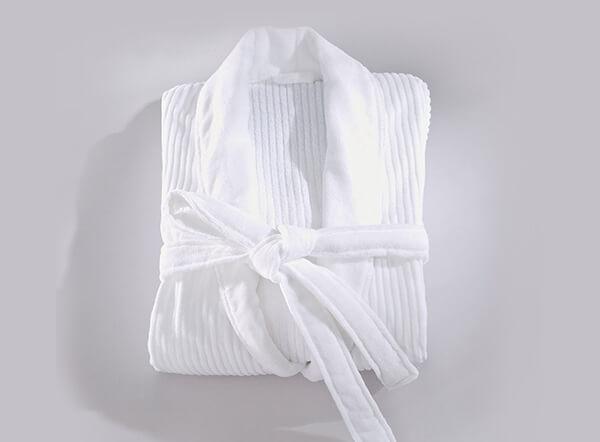 White hotel quality luxury 100% cotton terry velour bathrobes